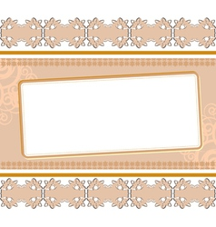 background with ornament vector image vector image