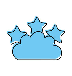 beautiful fantasy cloud with stars vector image