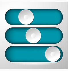 buttons for switching symbol vector image