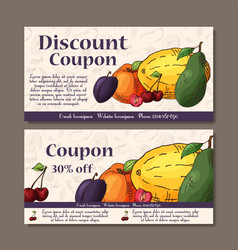 Cafe discount voucher for your business modern vector