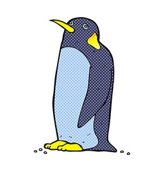 comic cartoon penguin vector image