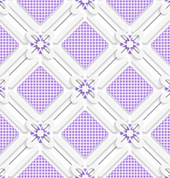 Diagonal purple checked squares pattern vector
