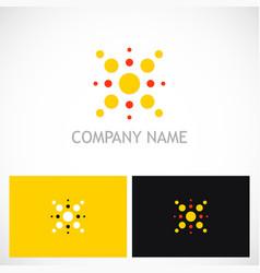 Dot shine geometry logo vector