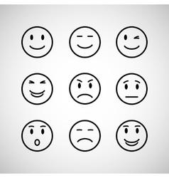 emotions face set vector image