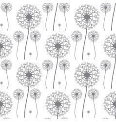 Floral pattern of dandelions vector image vector image