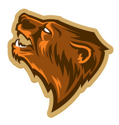 grizzly bear head logo vector image