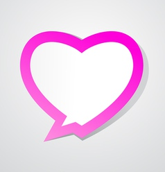 Love bubble vector image