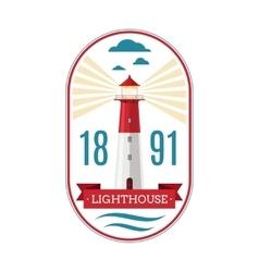 Marine lighthouse logo vector