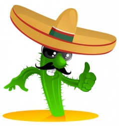 Mexican cactus vector image vector image