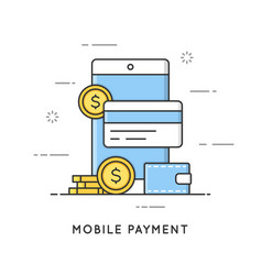 Mobile payment online transactions and banking vector