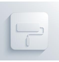modern paint roller light icon vector image