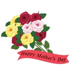 Mothers day roses vector