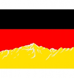 mountains with flag of Germany vector image vector image