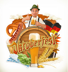 Munich Beer Festival Oktoberfest the can also be vector image vector image