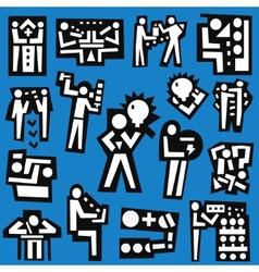 People teamwork - set icons vector