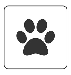 Pets paw icon 2 vector image vector image