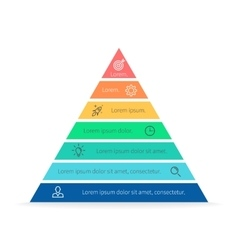 Pyramid for infographics chart diagram vector