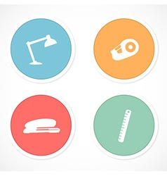 Retro stickers with icons vector image vector image