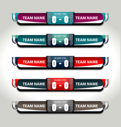 Scoreboard football elements vector