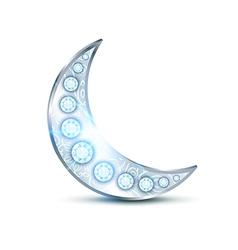 Silver precious moon vector
