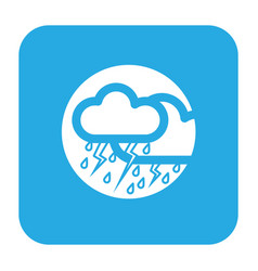 Thin line thunderstorm icon vector
