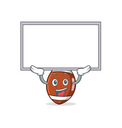 up board american football character cartoon vector image
