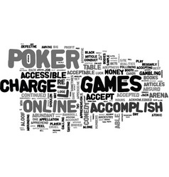 What it takes to be successful arena poker text vector