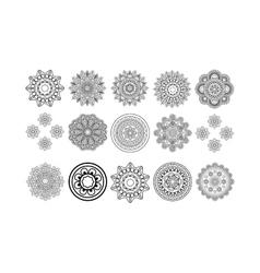 Round tribal elements set vector image