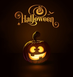 Jack o lantern dark happy vector