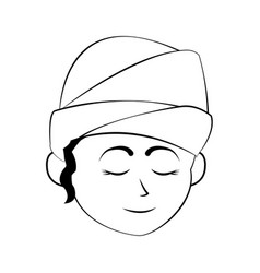 Young face woman wash vector