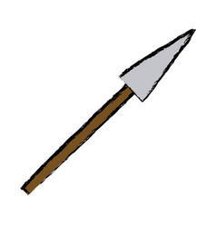 Cartoon spear weapon war medieval vector