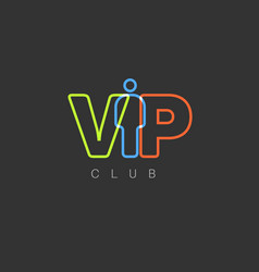 vip club invitation template vector image
