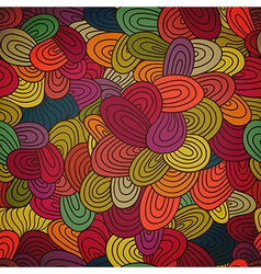 Seamless hand-drawn abstract pattern endless vector