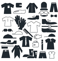Clothes - fashion flat icons vector