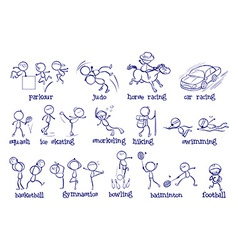 Different types of sports vector