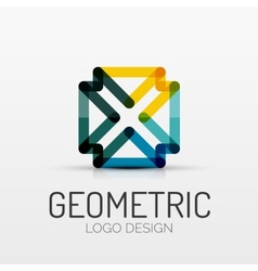 Abstract geometric shape company logo vector