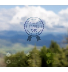 Web and mobile interface template travel corporate vector