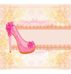 Floral shoes poster vector