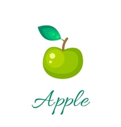 Green apple icon vector