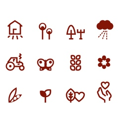 Agriculture - farming icons vector