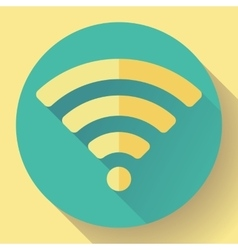 Wifi free internet connection icon flat design vector