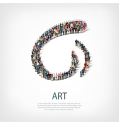 Art people sign 3d vector