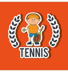 Play tennis design vector