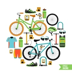 Bicycle design concept vector