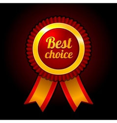 Award label Best choice with ribbons vector image vector image