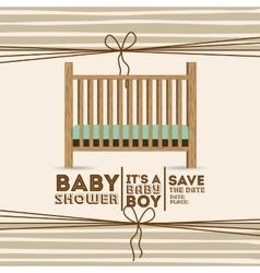 Baby shower invitation design vector
