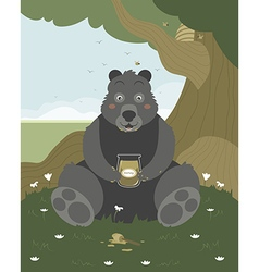 Bear with a jar of honey vector image