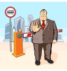 Boss prohibits Barrier Buildings vector image vector image