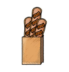 Bread loaf box vector