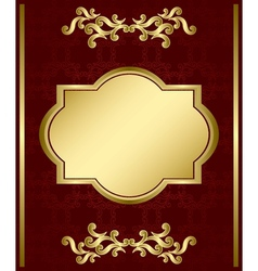 brown card with gold decorations vector image vector image